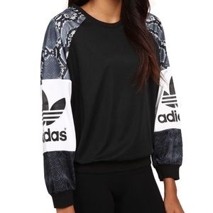 Adidas Originals LA Snakeskin Crewneck Trefoil